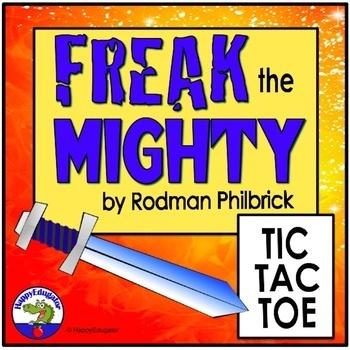 Freak the Mighty Tic Tac Toe Menu Choice Board