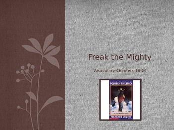 Freak the Mighty Vocabulary Power Points