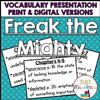 Freak the Mighty Vocabulary Presentation