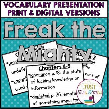 Freak the Mighty Vocabulary Presentation