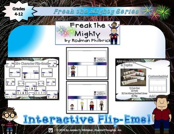 Freak the Mighty by Rodman Philbrick Interactive Character Analysis Flip-Ems