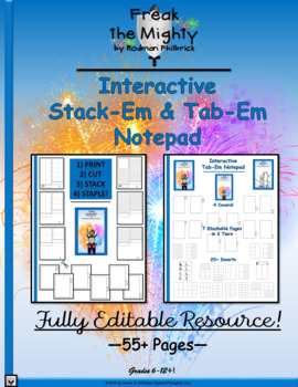 Freak the Mighty by Rodman Philbrick Interactive Stack-Em & Tab-Em Notepad