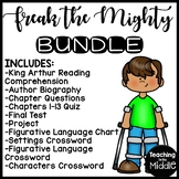 Freak the Mighty by Rodman Philbrick Unit Bundle Reading Comprehension