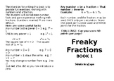 Freaky Fractions Book 1