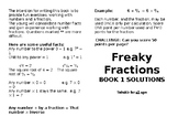 Freaky FractionsBook 1 Solutions