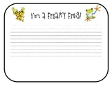 Freaky Frog Writing Template