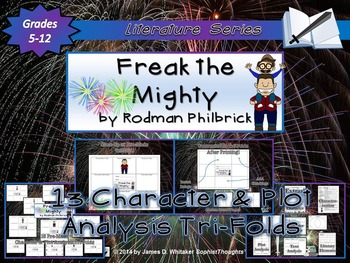 Freak the Mighty by Rodman Philbrick Character & Plot Analysis Tri-Folds