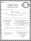 Freckle Juice 2 Page Comprehension Quiz - End of Book