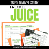 Freckle Juice Novel Study Unit