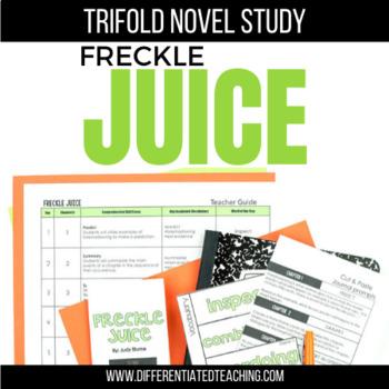 Freckle Juice Novel Study Unit