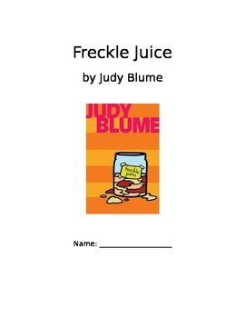 Freckle Juice Book Club Packet