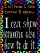 Common Core Posters - 'How Will I Know When I've Learned it'