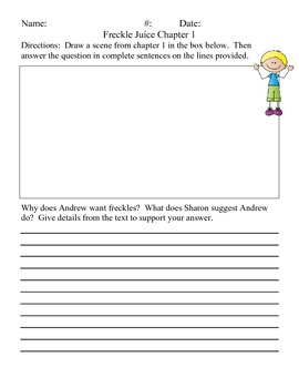Freckle Juice Chapter Questions