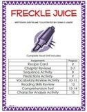 Freckle Juice Complete Novel Unit