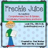 Freckle Juice Comprehension (A Book Companion)