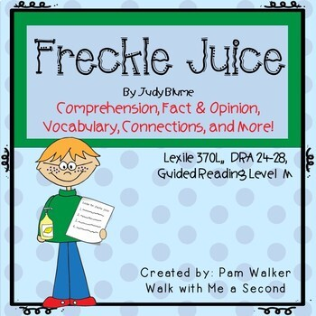 Freckle Juice Comprehension (A Book Companion)