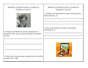Freckle Juice Comprehension Booklet