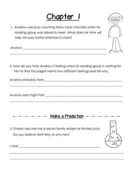 Freckle Juice Comprehension Guide