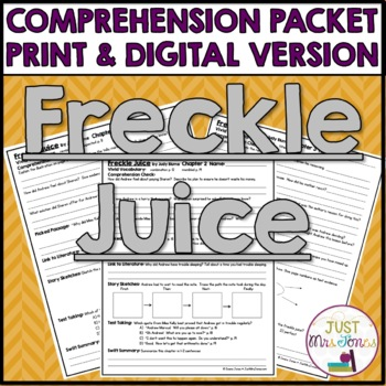 Freckle Juice Comprehension Packet