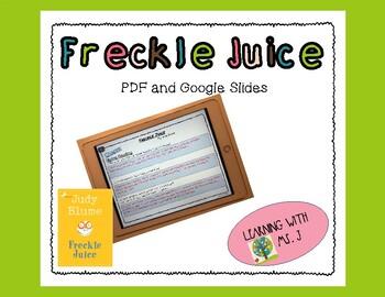 Freckle Juice Comprehension Questions