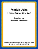 Freckle Juice Comprehension packet for reading groups