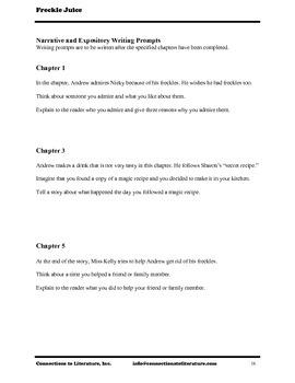 Freckle Juice-Reading Literature Guide