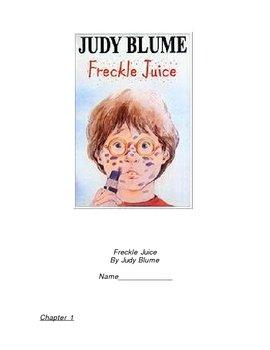 Freckle Juice Guided Reading Worksheet