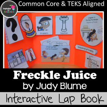 Freckle Juice Interactive Novel Study (Notebook or Lap Book)