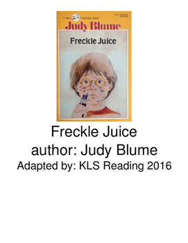 Freckle Juice - Judy Blume adapted book picture supported