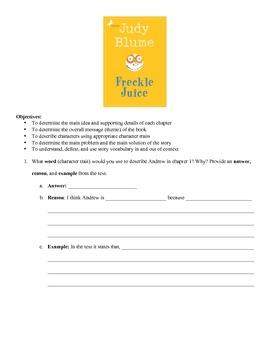 Freckle Juice Language Packet