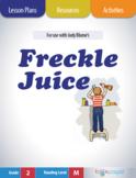 Freckle Juice Lesson Plan  (Book Club Format - Conflict/Resolution) (CCSS)
