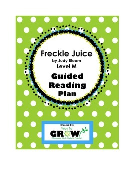 Freckle Juice Level M Guided Reading Plan