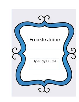 Freckle Juice Literature Log