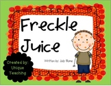 Freckle Juice: Mini-Lesson