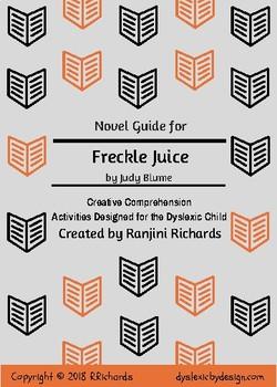 Freckle Juice Novel Guide