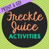 Freckle Juice Novel Unit Study Activities, Book Companion