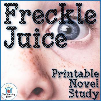 Freckle Juice Novel Study Book Unit Printable Version