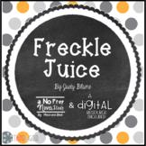 Freckle Juice Novel Study and DIGITAL Resource