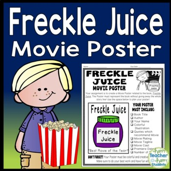 Freckle Juice Project: Create a Movie Poster! (A Fun Book Report Activity)