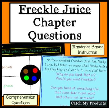 Freckle Juice Comprehension Questions for Promethean Board