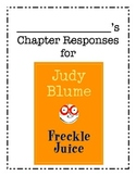 Freckle Juice Reading Responses