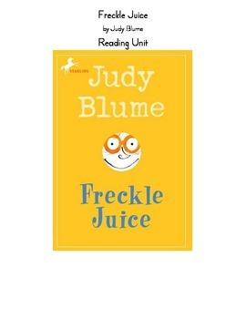 Freckle Juice Reading Unit