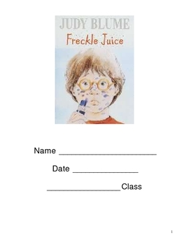 Freckle Juice Resource Book