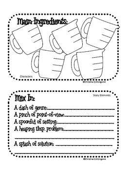 Freckle Juice Story Elements Recipe Book