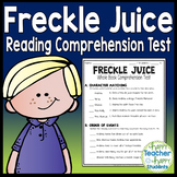 Freckle Juice Test: Final Book Quiz with Answer Key