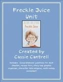 Freckle Juice Unit--Reading, Writing, Math