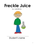 Freckle Juice Unit Study (Chapter questions and activities)
