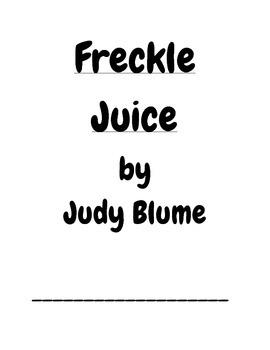Freckle Juice booklet
