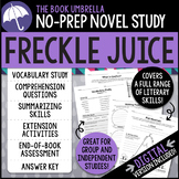 Freckle Juice Novel Study - Distance Learning - Google Classroom