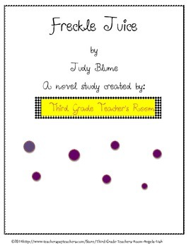 Freckle Juice by Judy Blume Common Core Aligned Close Reading Guide